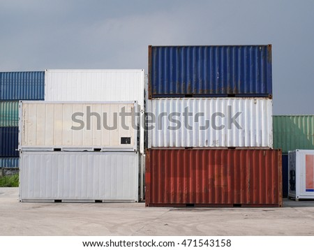containers waiting for input product to transportation to shipment