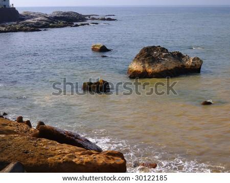 Contaminated sea - stock photo
