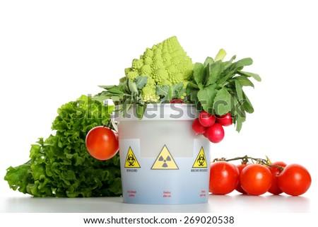 contaminated vegetables - stock photo