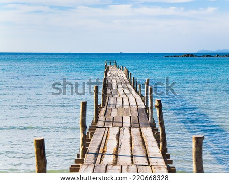 Contemplating the Sea Way to Yourself  - stock photo