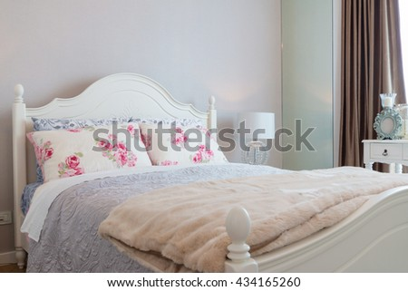 contemporary and classic bedroom in apartment or condo.
