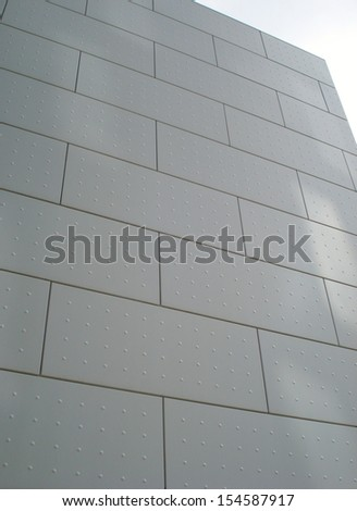 Contemporary architectural detail. Facade.