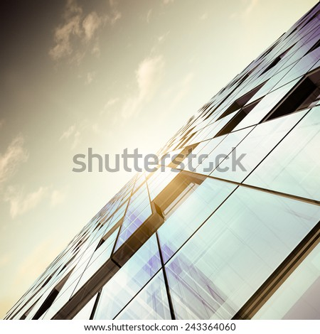 Contemporary architecture. Building design and 3d model my own - stock photo