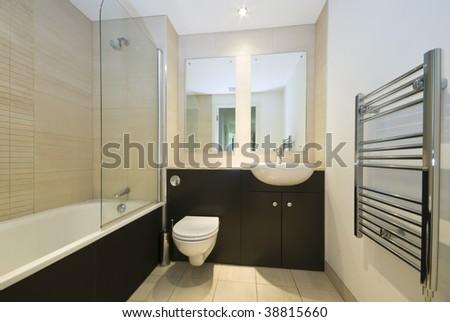Contemporary bathroom - stock photo