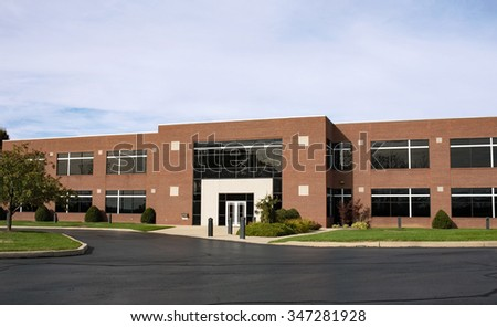 Contemporary Brick Business Building with Drive - stock photo