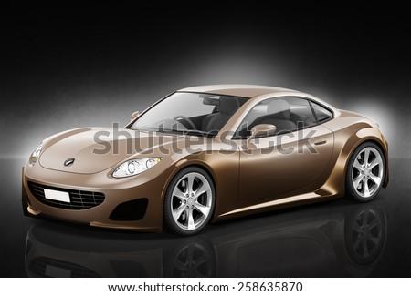 Contemporary Car Elegance Vehicle Transportation Luxury Performance Concept - stock photo