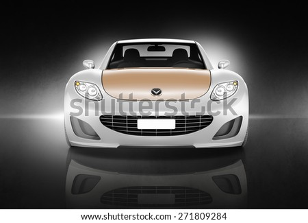 Contemporary Car Elegance Vehicle Transportation Luxury Performance Concept - stock photo
