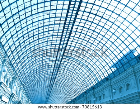 contemporary ceiling - stock photo