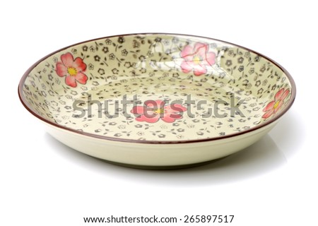 Contemporary dinner plate on white background