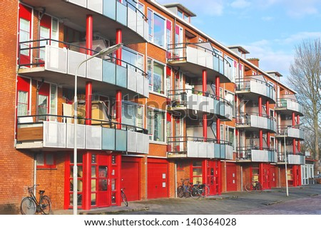 Contemporary Dutch residential building. Netherlands - stock photo