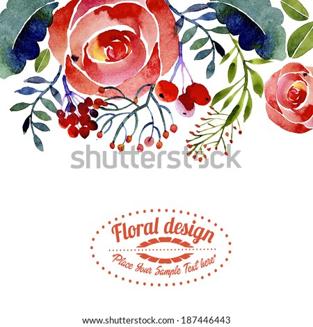 Contemporary floral greeting card border design stock illustration contemporary floral greeting card or border design m4hsunfo