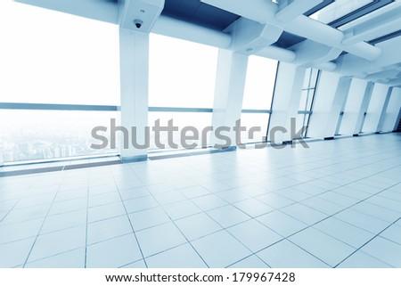 contemporary hallway of modern building - stock photo