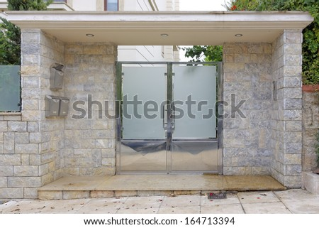 contemporary house entrance, Athens Greece