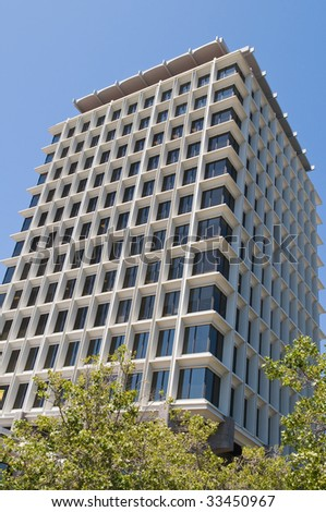 Contemporary office tower, Palo Alto, California - stock photo
