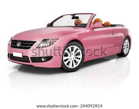 Contemporary Shiny Luxury Transportation Performance Concept - stock photo