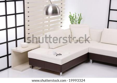 Contemporary sofa - stock photo