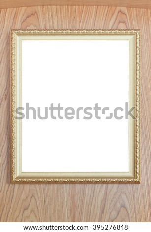 Contemporary style picture frame on beautiful design wood surface - stock photo