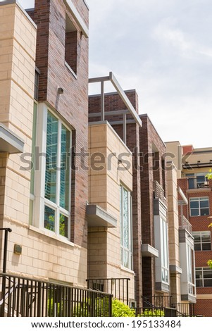 Contemporary townhomes in downtown Denver, Colorado.