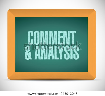 content and analysis board sign illustration design over a white background - stock photo