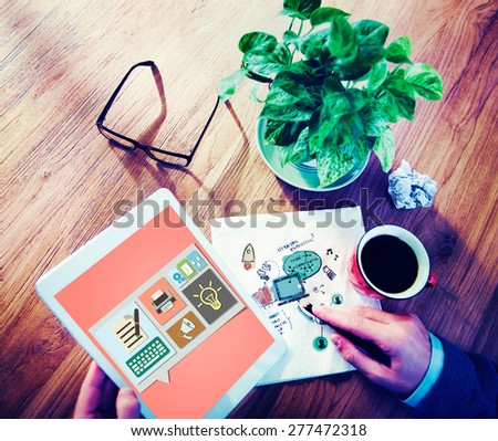 Content Blog Blogging Idea Media Internet Email Concept - stock photo