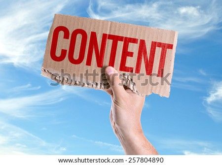 Content card with sky background - stock photo
