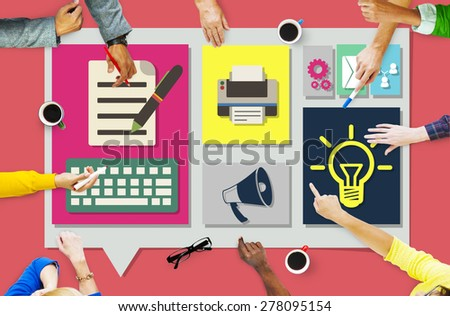 Content Connect Social Media Data Blog Concept - stock photo
