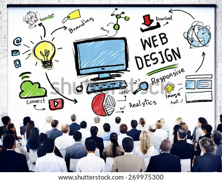 Content Creativity Digital Graphic Layout Webdesign Webpage Concept - stock photo