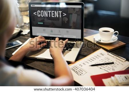 Content Data Blogging Media Publication Concept - stock photo