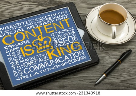 content is king - stock photo