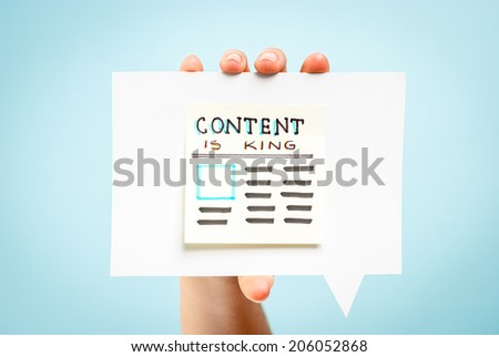 Content is king message concept - stock photo