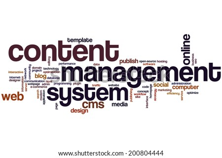 Content management system concept word cloud background - stock photo
