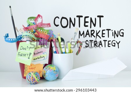 Content Marketing Strategy Business Concept