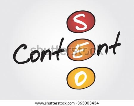 Content seo business concept acronym   - stock photo
