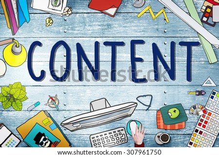 Content Social Media Networking Connection Concept - stock photo