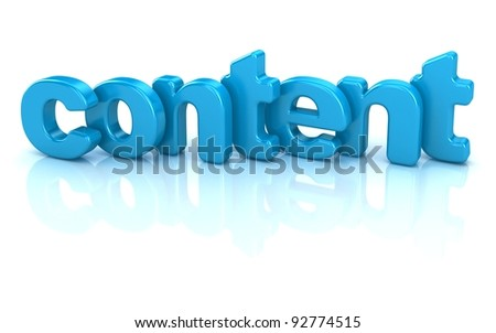 content text 3d over white background
