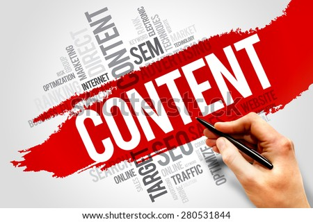CONTENT word cloud, business concept - stock photo
