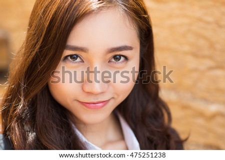 Content Young Businesswoman Portrait