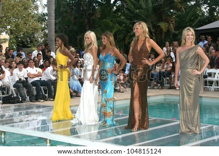 Contestants  at the 5th Annual Miss Malibu Pageant. Private Residence, Malibu, CA. 08-23-09 - stock photo