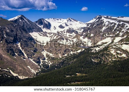 Continental Divide, Rocky Mountain National Park, Colorado, USA.