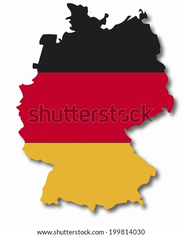 Contour of Germany