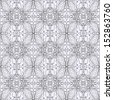 Contour seamless floral pattern. Raster copy  - stock photo