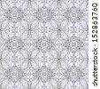 Contour seamless floral pattern. Raster copy  - stock photo