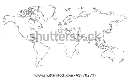 Contour similar world map blank infographic stock illustration contour similar world map blank for infographic isolated on white background gumiabroncs Gallery