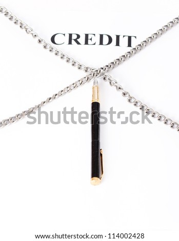 Contract entwined chain and pen