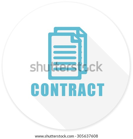 contract flat design modern icon with long shadow for web and mobile app  - stock photo
