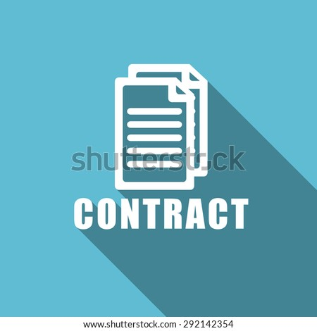 contract flat icon  original modern design flat icon for web and mobile app with long shadow  - stock photo