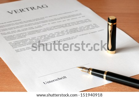 contract is ready for signing before