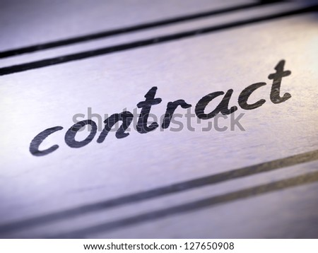 contract ( my own font )  Full collection of icons like that is in my portfolio