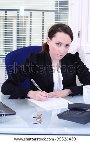 Contract signature/ contract - stock photo