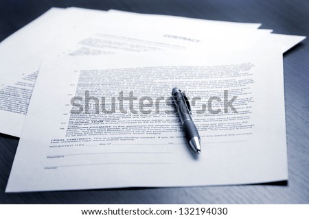 Contract signing - stock photo